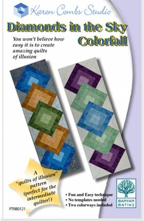 Diamonds in the Sky - Colorfall Pattern by Karen Combs