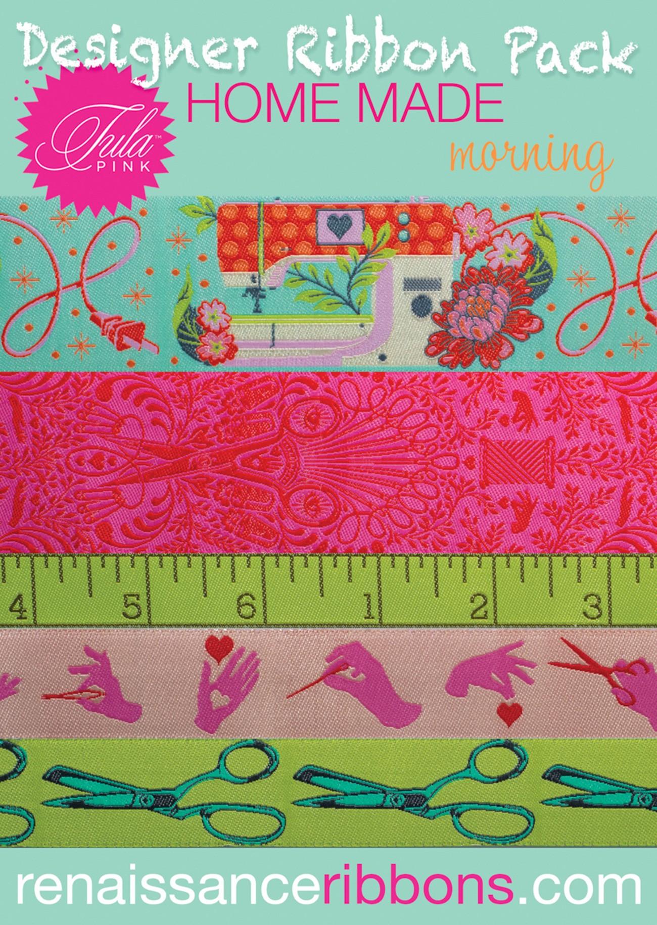 Tula Pink Home Made Morning Designer Ribbon Pack # DP-90TPMN