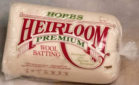 Batting Heirloom 100% Wool 120in x 120in