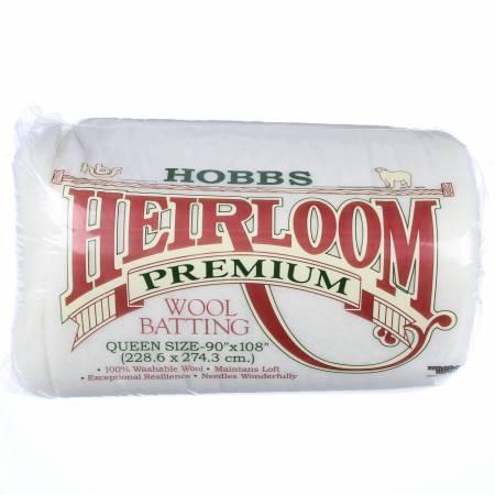 Batting Heirloom 100% Wool 90in x 108in
