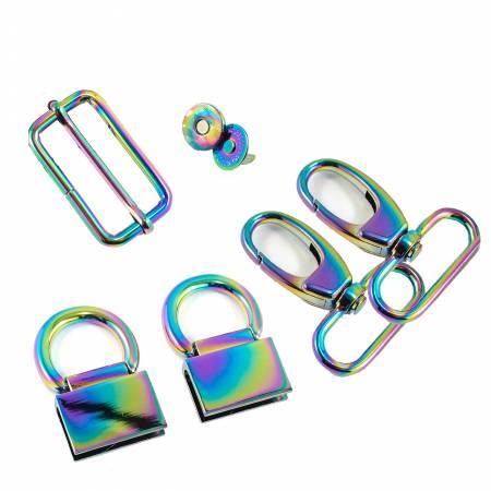 Double Flip Shoulder Bag Hardware Kit Rainbow