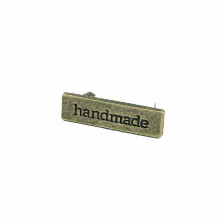 Metal Bag Label Handmade In Antique Brass