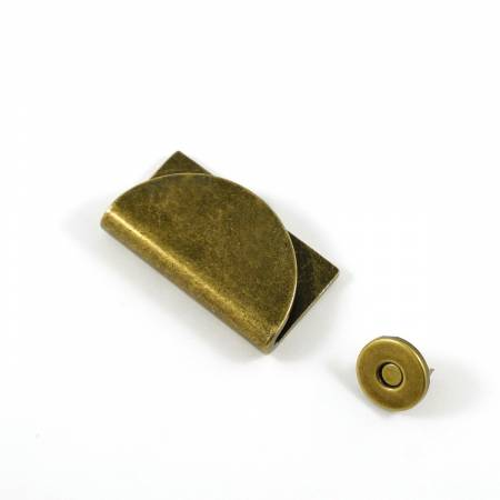 Half Moon Magnetic Clasp Antique Brass