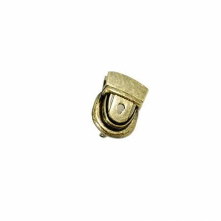Emmaline Press Lock 1-1/8in Wide Antique Brass