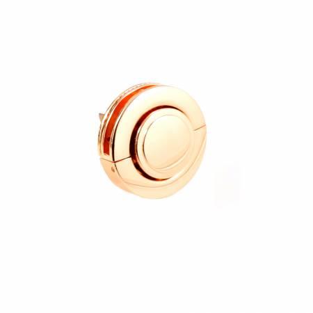 Large Button Lock Copper