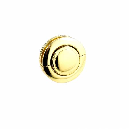 Large Button Lock Gold