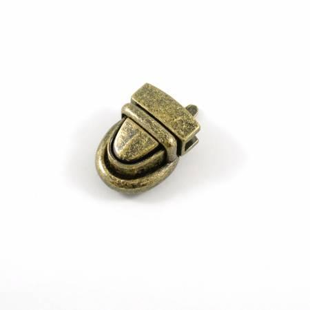 Emmaline Baby Press Lock 3/4in wide Antique Brass