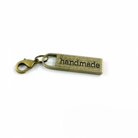 Zipper Pull Handmade In Antique Brass