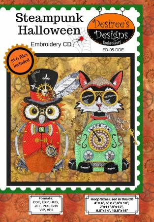 Steampunk Halloween Embroidery CD