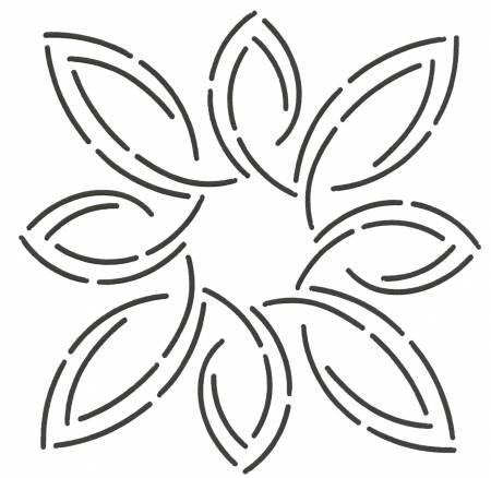 5in Pear Leaf Medallion Stencil By Estes, Laura