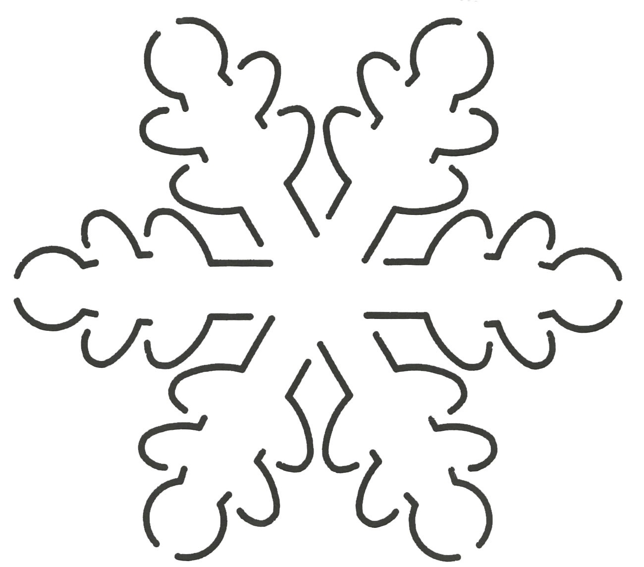 Quilt Stencil Snowflake 5in x 5-1/2in By Estes, Laura