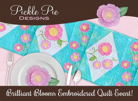 Student Event Kit: Brilliant Blooms Embroidered Quilt Table Runner