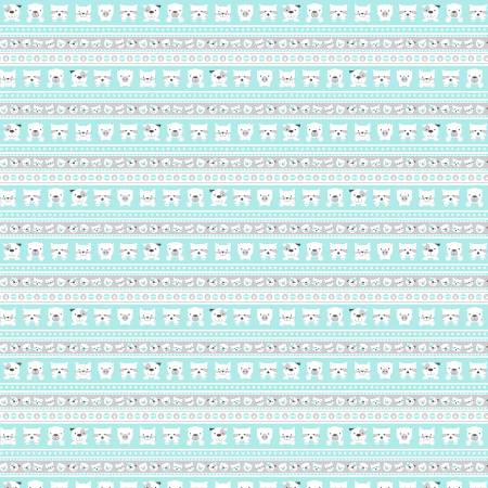 Aqua Novelty Stripe on Flannel