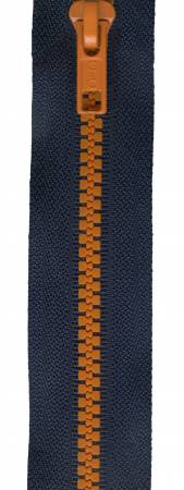 Zip Team Spirit Poly Seperating 26in Navy/Orange