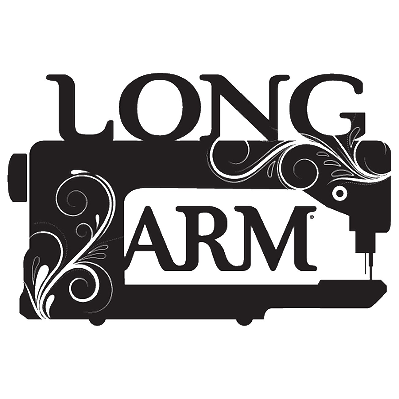 Vinyl Window Decal Long Arm Sewing Machine By Kraus Lynn