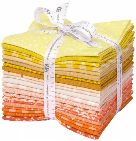 Fat Quarter Paintbox Sunshine, 21pcs/bundle
