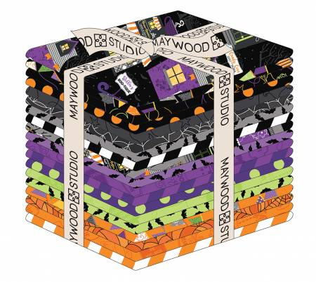Fat Quarter, Hometown Halloween, 19pcs/bundle