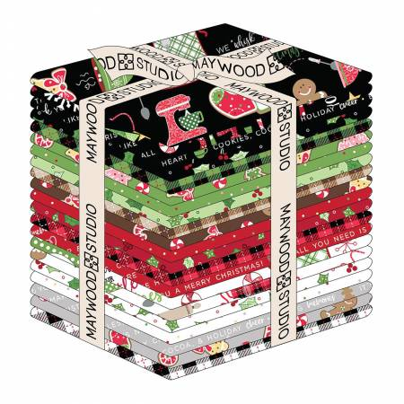 Fat Quarter Kimberbell Christmas Jingle & Whisk, 21pcs/bundle