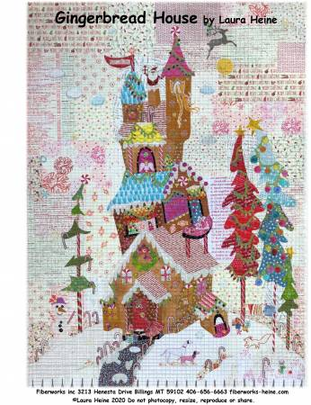 Gingerbread House Collage Pattern by Laura Heine