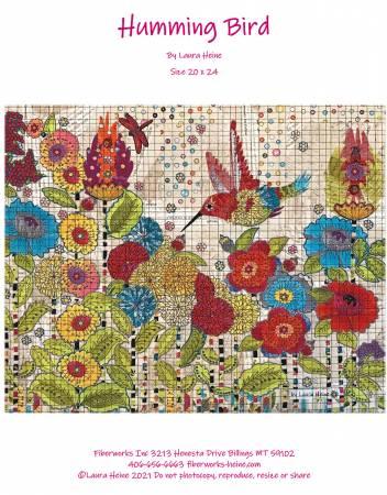 Humming Bird Collage Pattern by Laura Heine