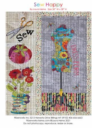 Sew Happy Collage Pattern by Laura Heine