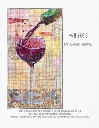 Vino Collage Pattern by Laura Heine