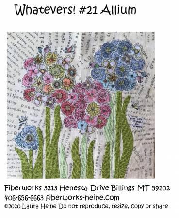 Whatevers! #21 Allium Collage Pattern by Laura Heine