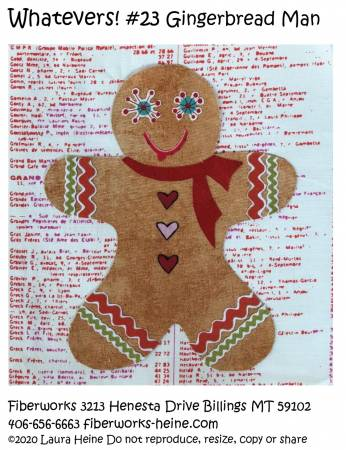 Whatevers! #23 Gingerbread Man Collage Pattern by Laura Heine