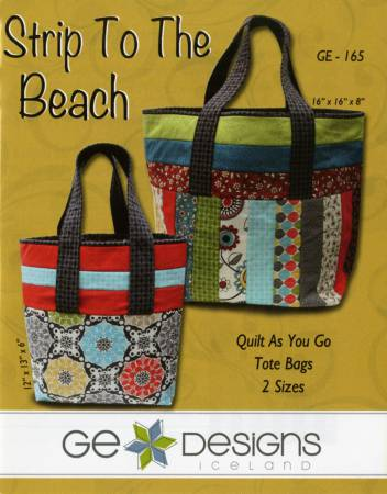 Strip to the Beach Tote Bags