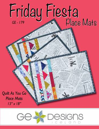 Friday Fiesta Placemats Quilt as You Go