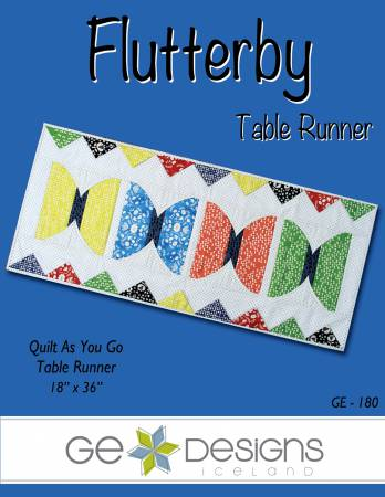Flutterby table Runner Quilt as You Go