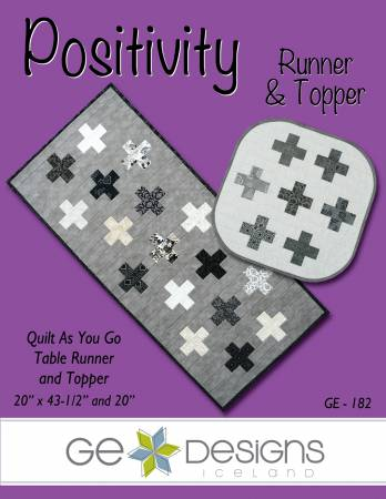 Positivity Topper/Runner Quilt as you Go