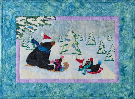 January 12 Months of Happy! Block of the Month Block 1 Sledding to the New Year