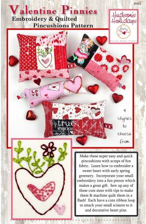 Valentine Pinnie - Embroidery and Quilted Pincushion Pattern