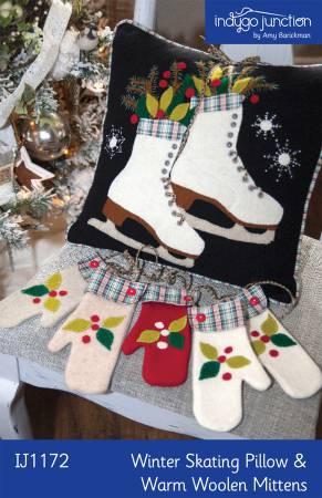 Winter Skating Pillow & Warm Woolen Mittens