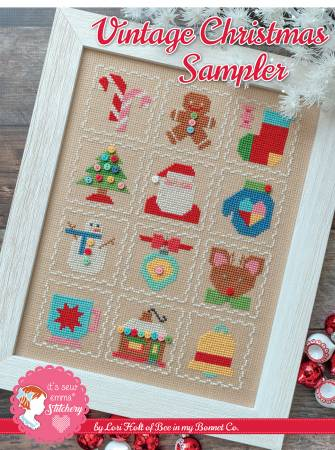 Vintage Christmas Sampler Cross Stitch Pattern