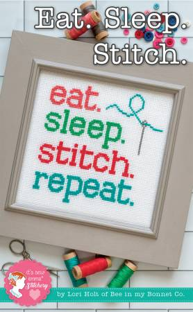 Eat. Sleep. Stitch. Repeat.  Cross Stitch Pattern