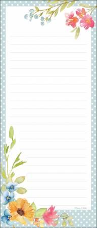 Poppy Floral List Pad