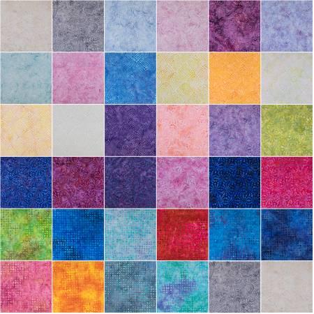 10in Squares Malam Batik 8, 42pcs, 2 bundles/pack