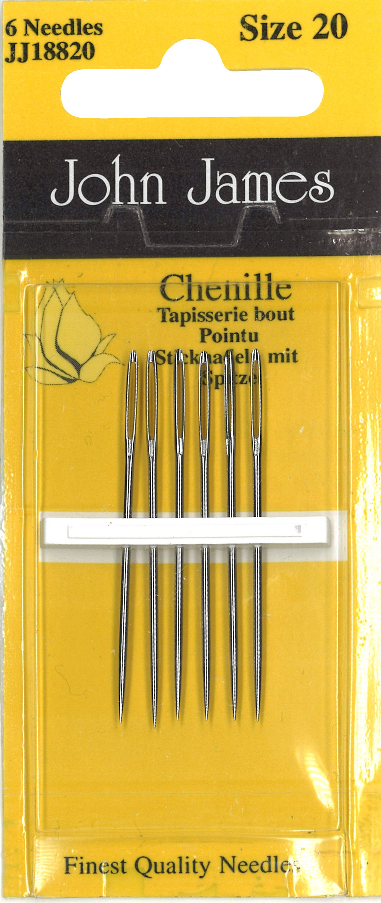 Tapestry Needles Size 18//24 pack of 6