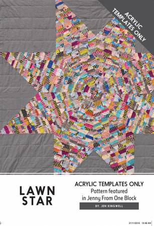 Lawn Star Template Only (Pattern In Jenny From One Block)