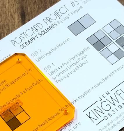 Postcard Project No. 3 - Scrappy Squares
