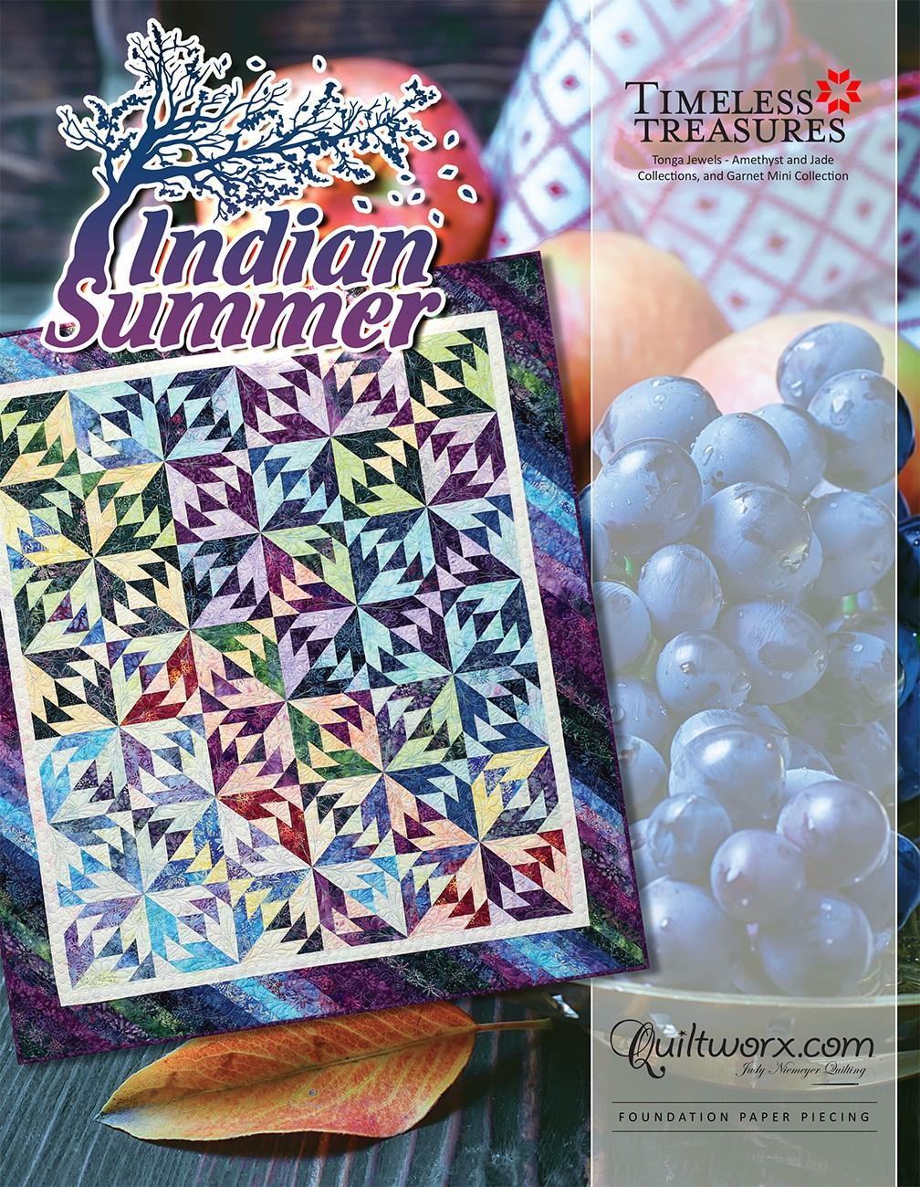Quiltworx Judy Niemeyer Quilting JNQ00254P1 Summer Solstice Queen Pattern