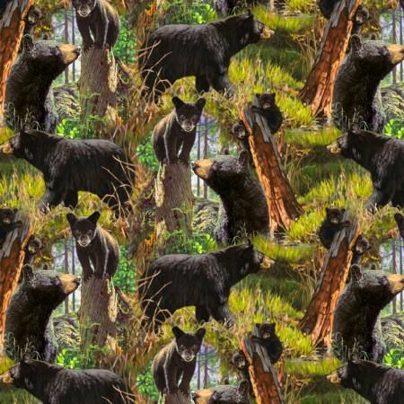 Black Bear Family Digitally Printed