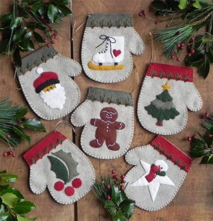 Kit Warm Hands Mitten Ornaments