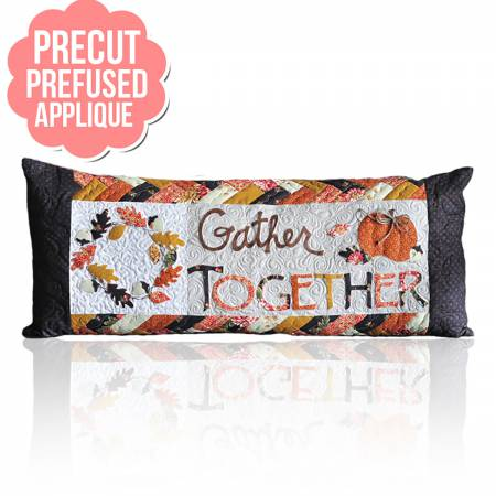 Gather Together Bench Pillows - November with pattern