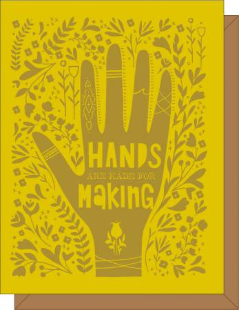 Hands are Made for Making (Green) Gift Card