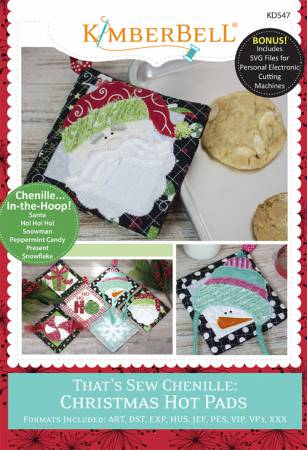 Thats Sew Chenille Christmas Hot Pads Machine Embroidery