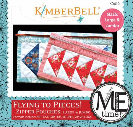 CD Flying to Pieces Zipper Pouch (Large & Jumbo Size)