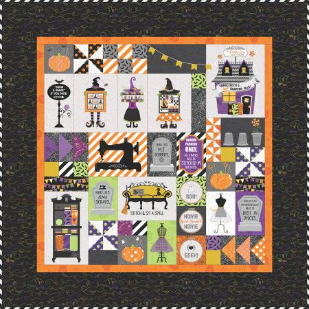 Candy Corn Quilt Shoppe Machine Embroidery Version